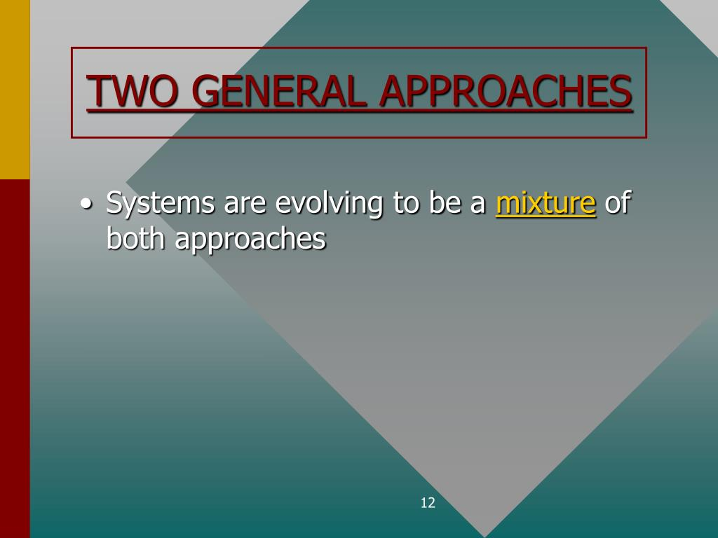 TWO GENERAL APPROACHES
