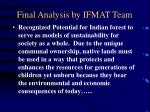 final analysis by ifmat team