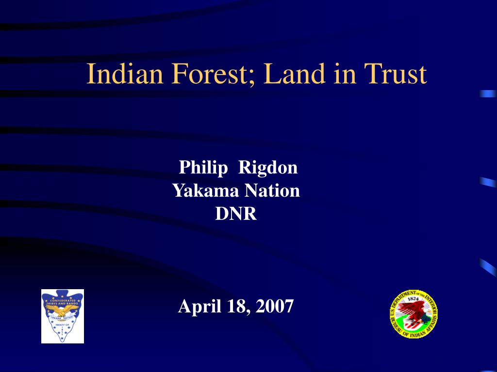 indian forest land in trust l.