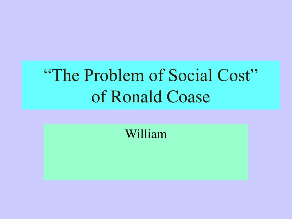 an overview of the coase theorem in economy