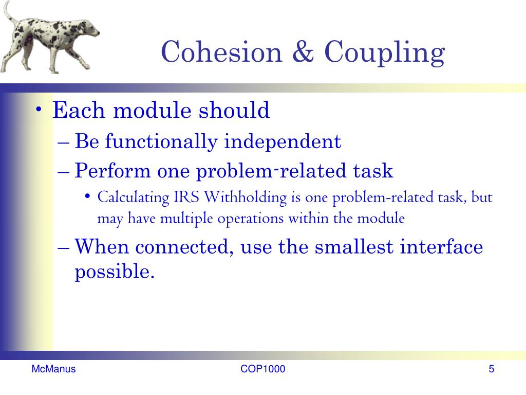 Cohesion & Coupling