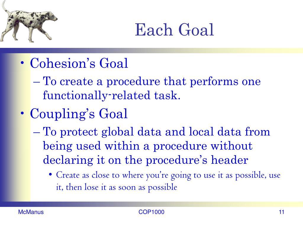 Each Goal