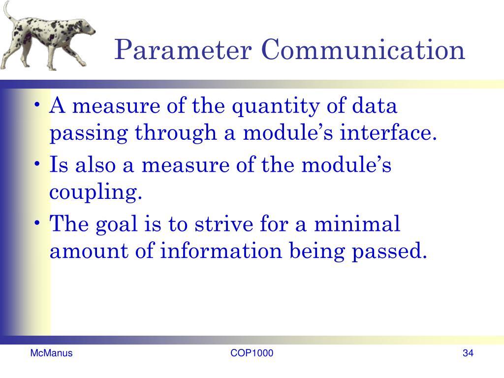 Parameter Communication