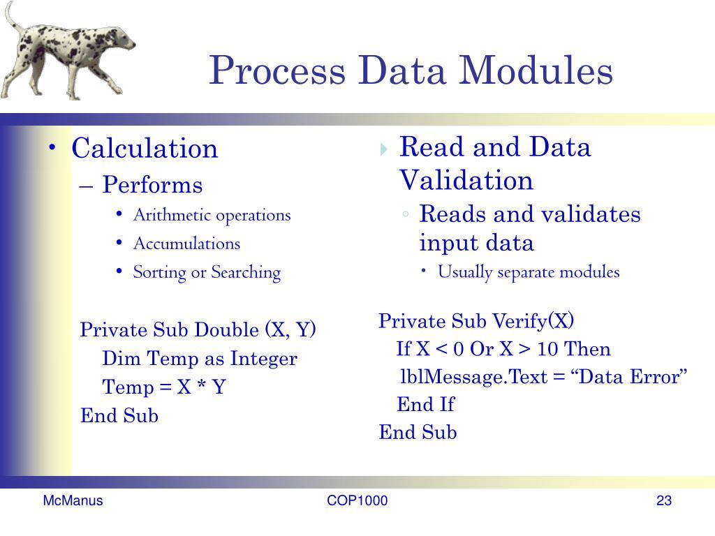 Process Data Modules