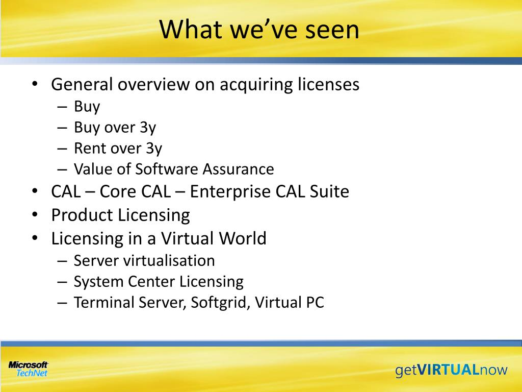 PPT - Understanding Microsoft's Server Product Licensing in a
