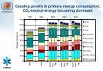 ceasing growth in primary energy consumption co 2 neutral energy becoming dominant