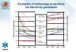 examples of technology projections for electricity generation