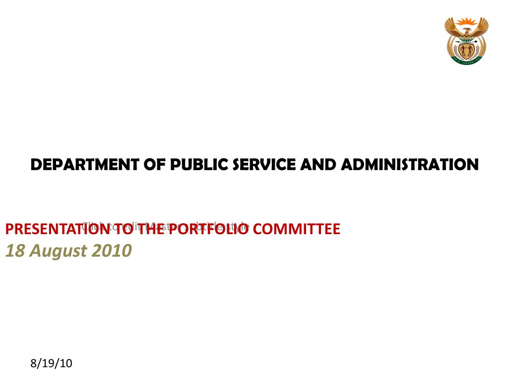 department of public service and administration l.
