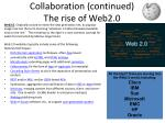 collaboration continued the rise of web2 0