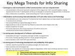 key mega trends for info sharing