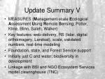 update summary v