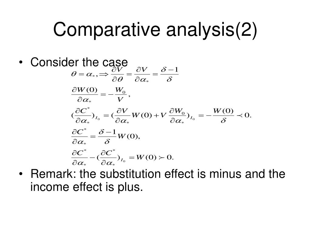 Comparative analysis(2)