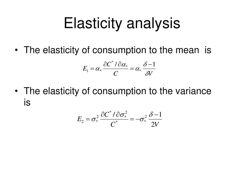 Elasticity analysis