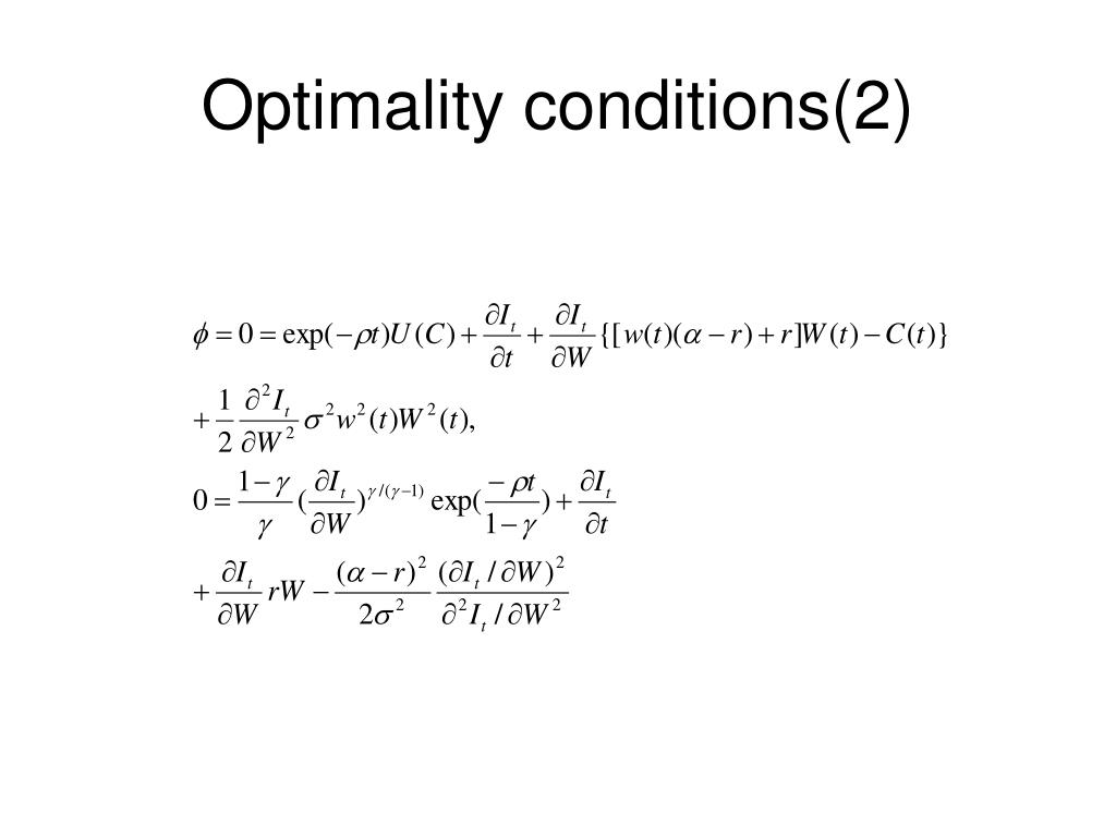 Optimality conditions(2)