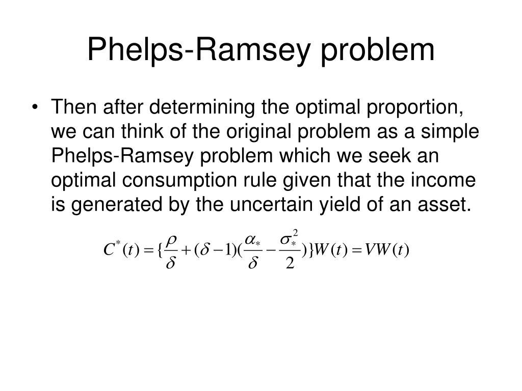 Phelps-Ramsey problem