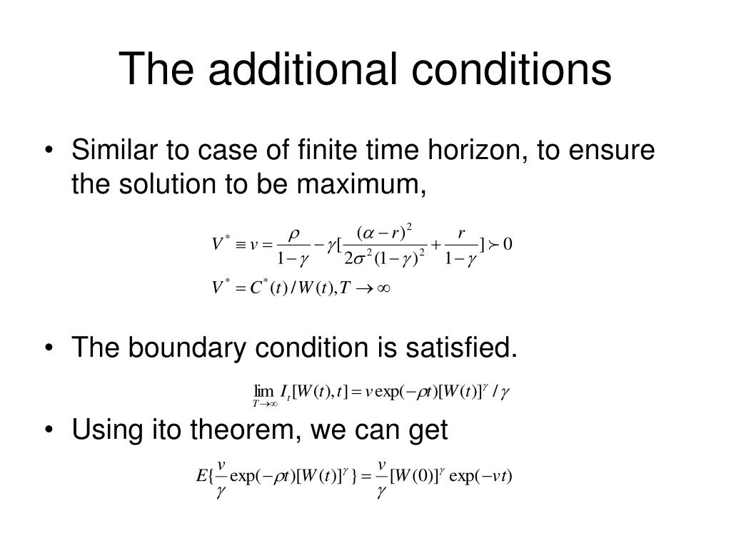 The additional conditions
