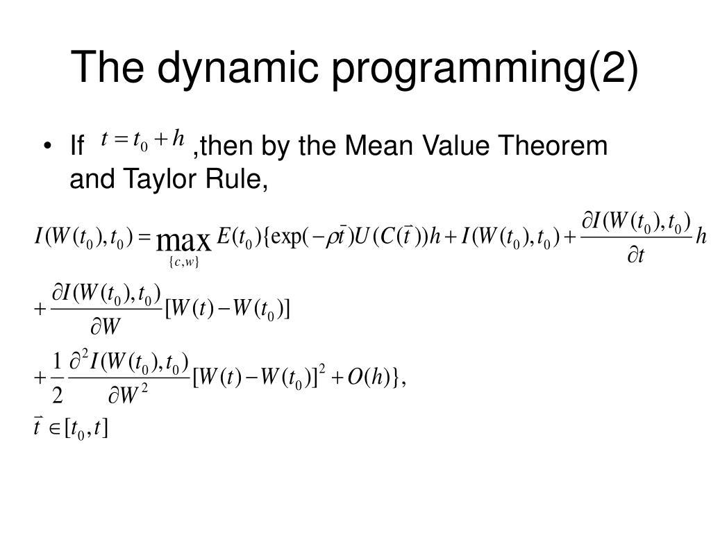 The dynamic programming(2)
