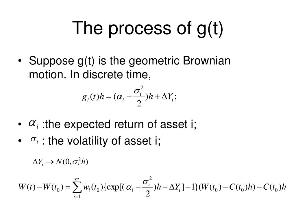 The process of g(t)