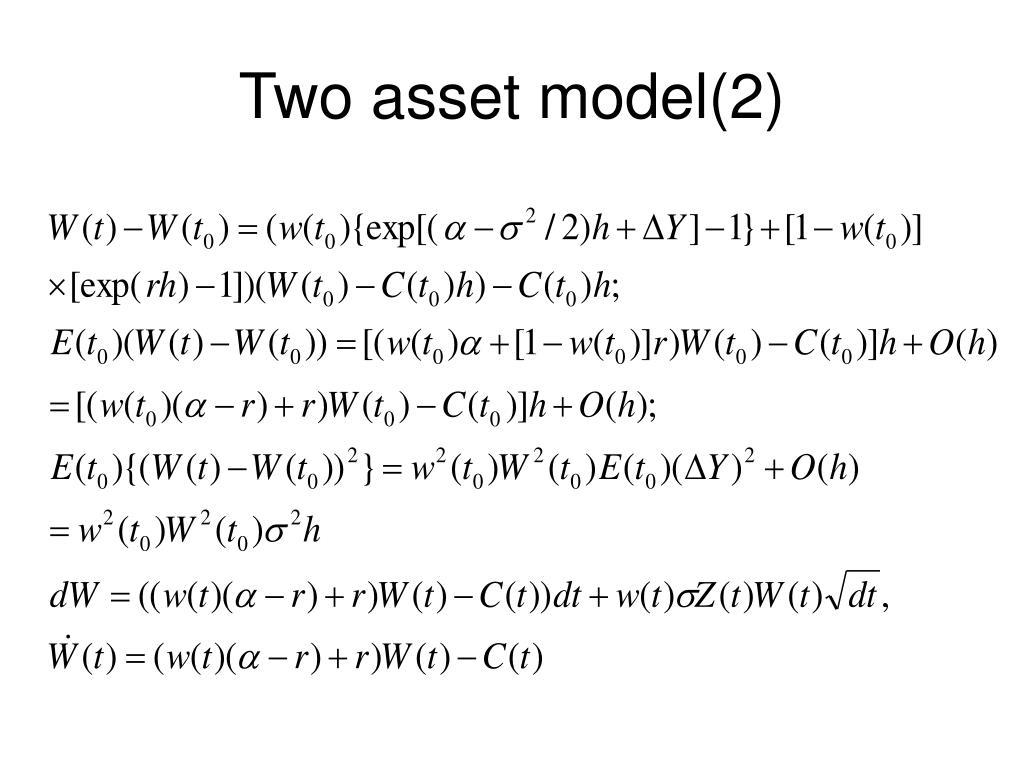 Two asset model(2)