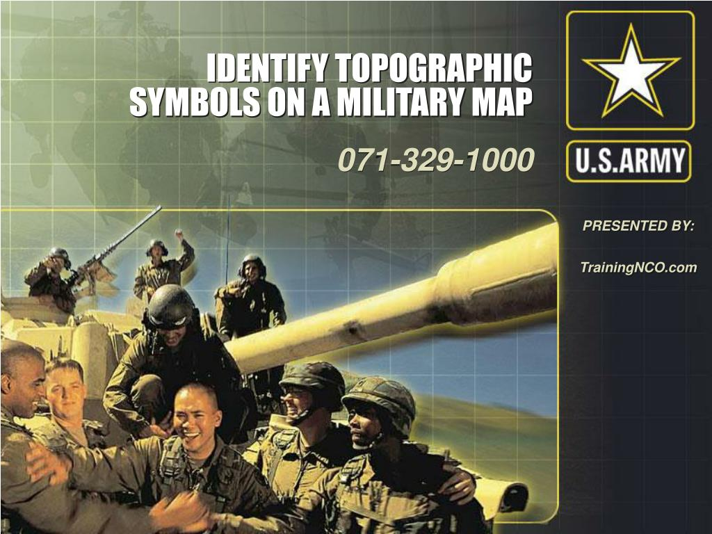 Ppt Identify Topographic Symbols On A Military Map Powerpoint