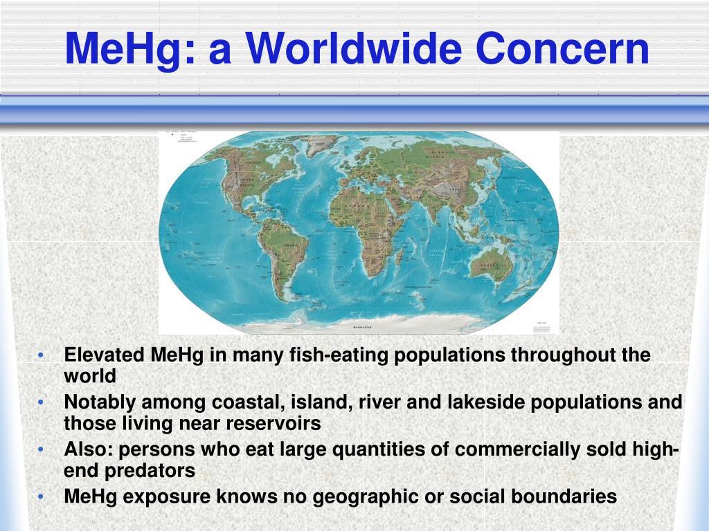MeHg: a Worldwide Concern