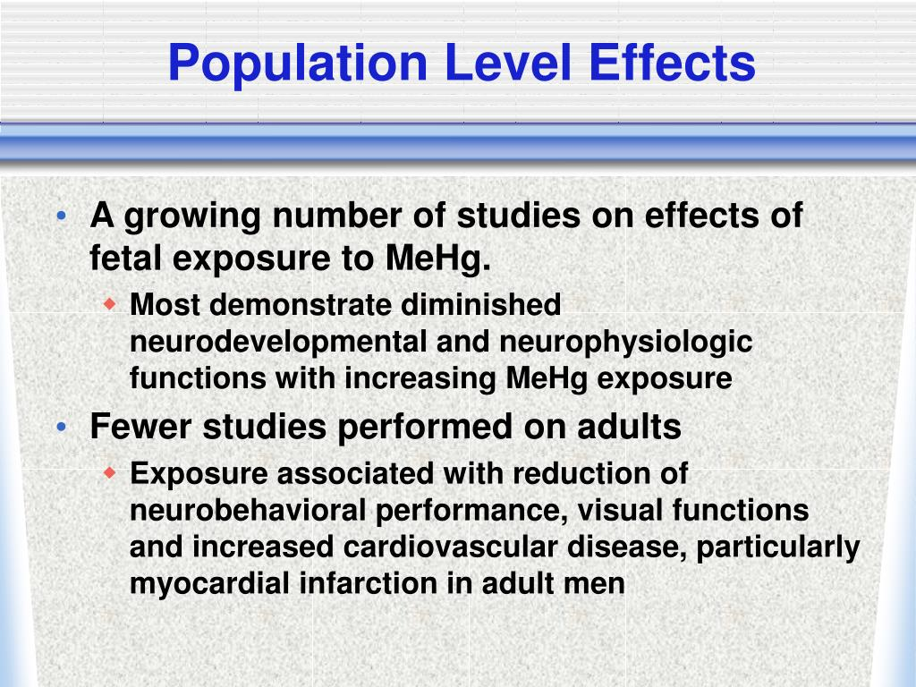 Population Level Effects
