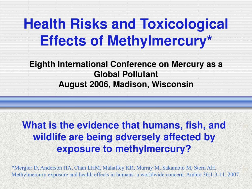 Health Risks and Toxicological Effects of Methylmercury*