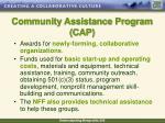 community assistance program cap