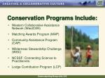 conservation programs include