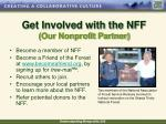 get involved with the nff our nonprofit partner