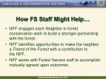 how fs staff might help38