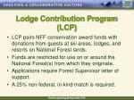 lodge contribution program lcp