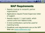 map requirements