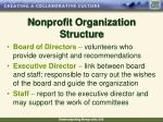 nonprofit organization structure