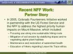 recent nff work p artner story
