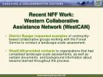 recent nff work western collaborative assistance network westcan