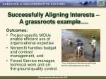 successfully aligning interests a grassroots example12
