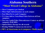 alabama southern most wired college in alabama