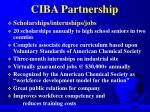 ciba partnership