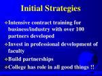 initial strategies
