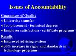 issues of accountability