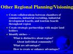 other regional planning visioning