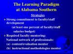 the learning paradigm at alabama southern