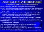 universal human rights pledge adopted by alabama southern community college