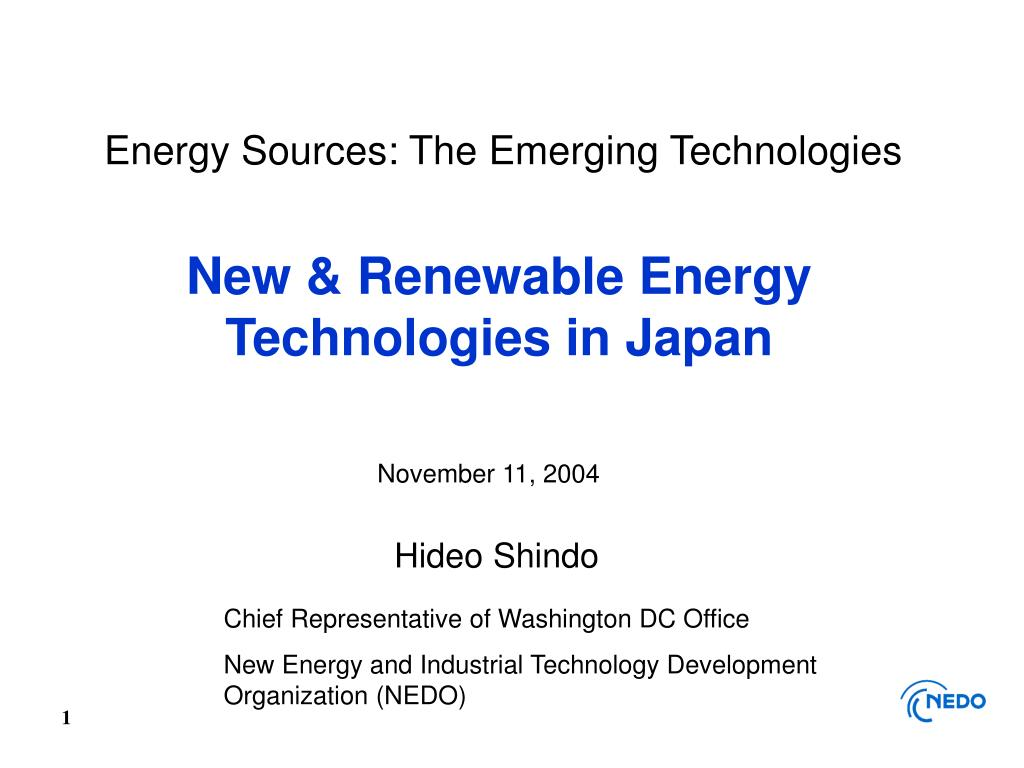 energy sources the emerging technologies l.