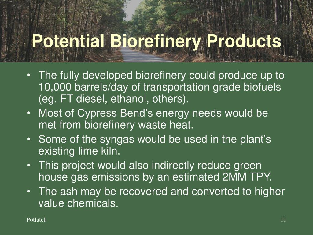 Potential Biorefinery Products