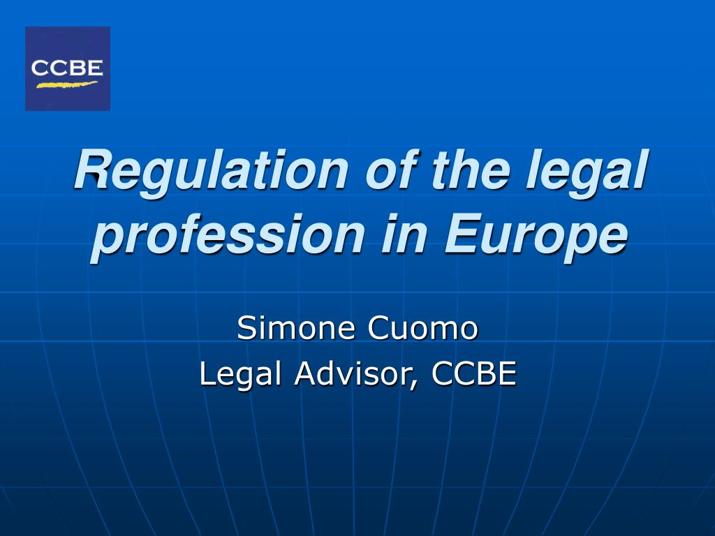 regulation of the legal profession in europe l.