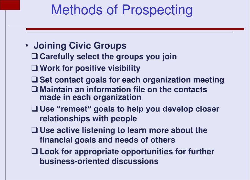 Joining Civic Groups
