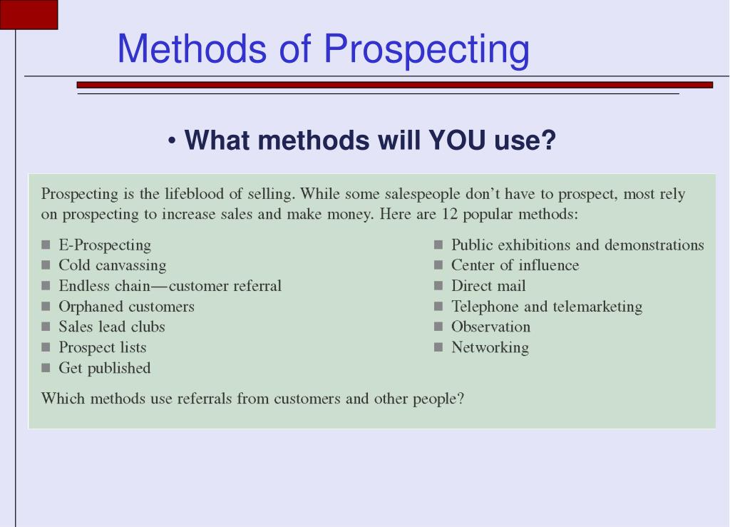 What methods will YOU use?