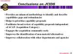 conclusions on jcids